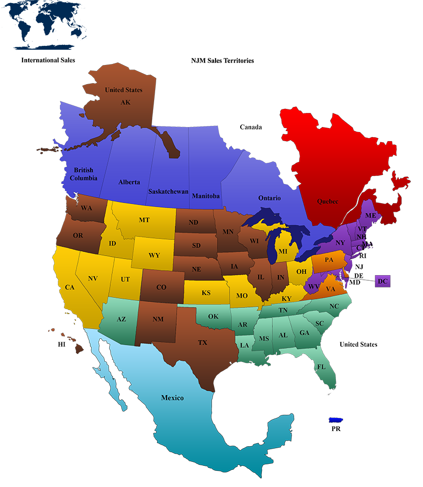 Contact Our Sales Team In The Midwest USA NJM - Midwest usa map
